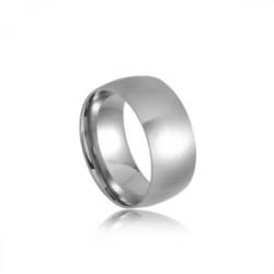 Stalowa obrączka unisex w stylu minimalistycznym