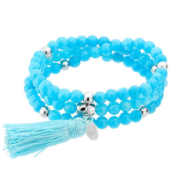 Ukojenia, niebieska bransoletka z chwostem