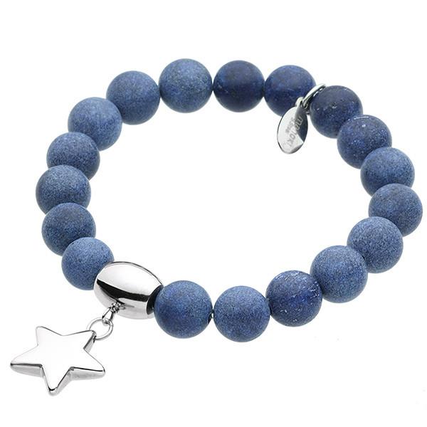 Ukojenie, niebieska bransoletka z gwiazdką