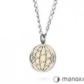 WA141G okrągły, oryginalny naszyjnik damski w kolorze złotym i srebrnym