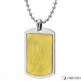 WA242G naszyjnik męski, srebrno-złoty nieśmiertelnik