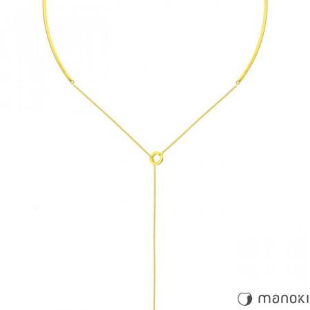WA283G minimalistyczny, złoty naszyjnik damski