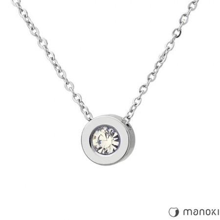WA335 minimalistyczny naszyjnik z cyrkonią srebrny