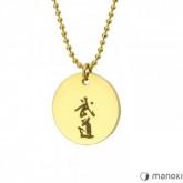 WA412G Damski medalion BUDO złoty