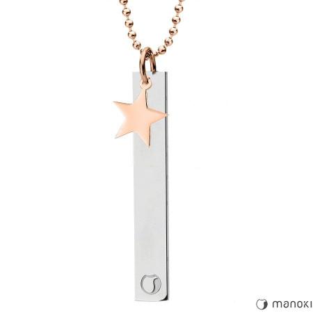 WA433R naszyjnik z gwiazdką, różowe złoto