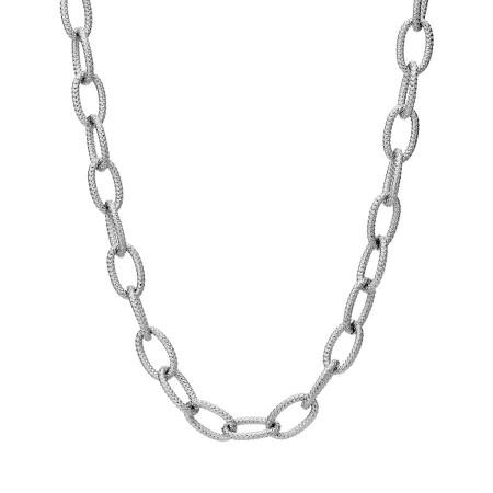 Zdobiony łańcuch naszyjnik ze stali szlachetnej