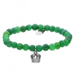 Zielona bransoletka damska z onyksu