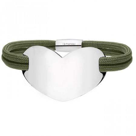 Zielona bransoletka HEART
