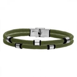 Zielona bransoletka męska beads