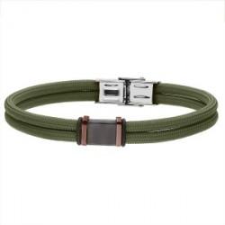 Zielona bransoletka męska sznurkowa