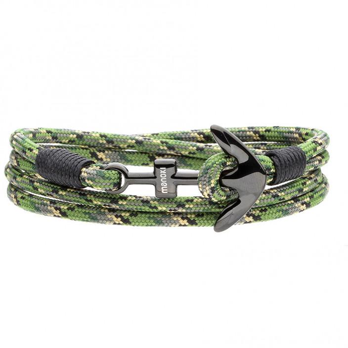 Zielona kotwica marynarska bransoletka