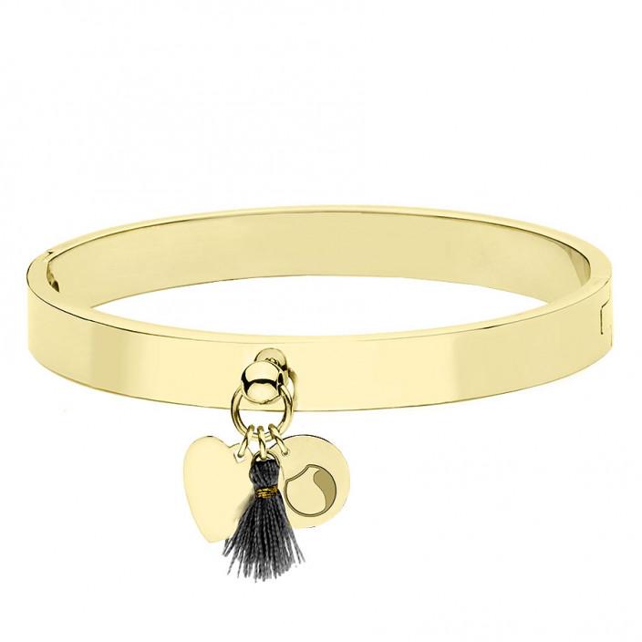 złota bransoletka damska z serduszkiem i chwostem