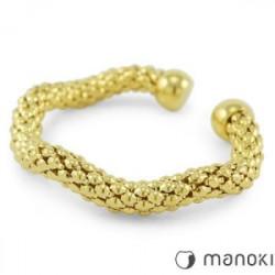 Złota bransoletka damska ze stali szlachetnej