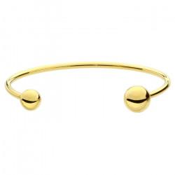 Złota bransoletka damska ze stali szlachetnej z kuleczkami