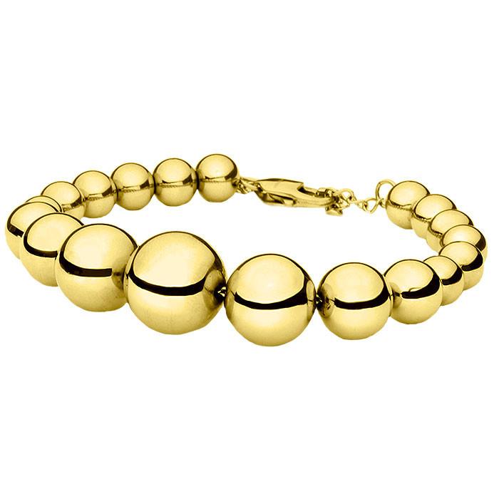 Złota bransoletka damska ze stalowych kulek