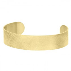 Złota, drapana bransoleta bangle hipoalergiczna