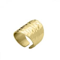 Złota obrączka stalowa