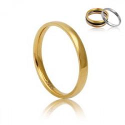 Złota, uniwersalna obrączka z hipoalergicznej stali