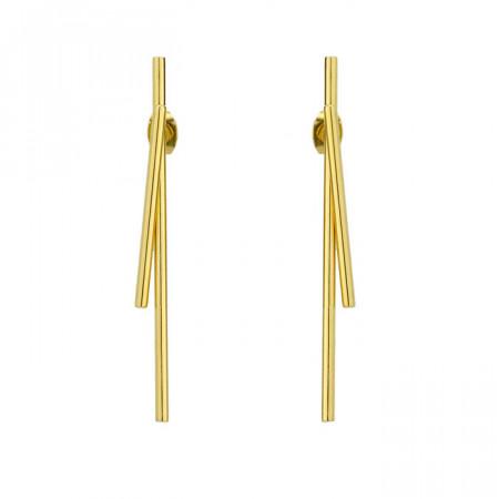 Złote, minimalistyczne kolczyki