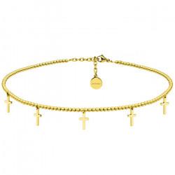 Złoty naszyjnik choker z krzyżykami