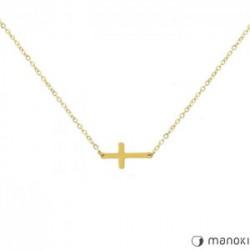 złoty naszyjnik damski z krzyżykiem