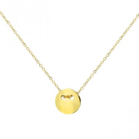 Złoty naszyjnik damski z medalikiem