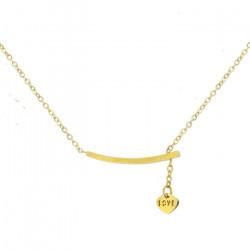 Złoty naszyjnik damski z napisem Love