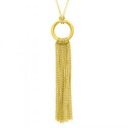 Złoty naszyjnik z chwostem